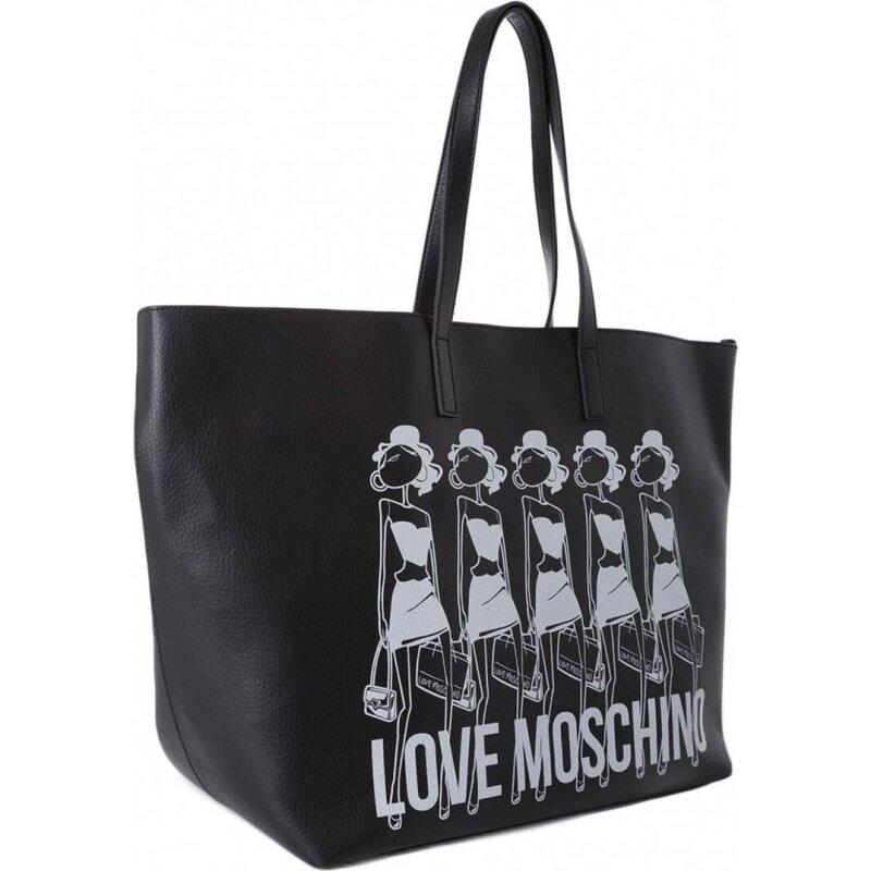Dwustronna Shopperka Item Love Moschino czarny