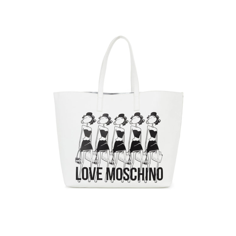 Shopper bag Love Moschino white