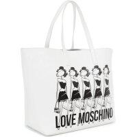 Shopper bag Love Moschino white