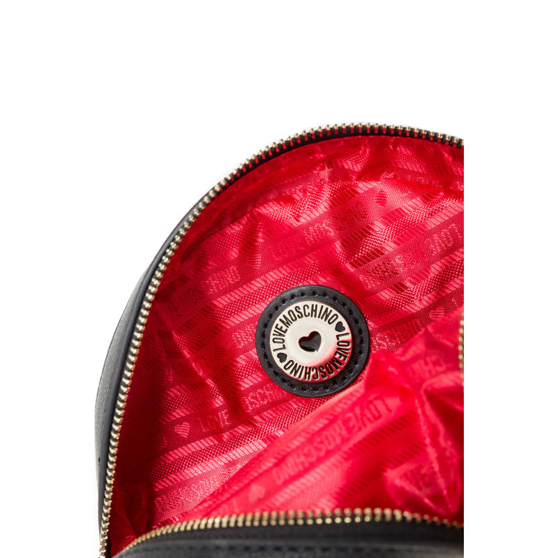 Love Heart messenger bag Love Moschino black