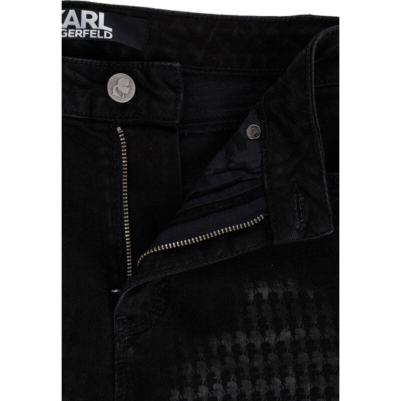 Jeansy Ikonik Karl Karl Lagerfeld czarny