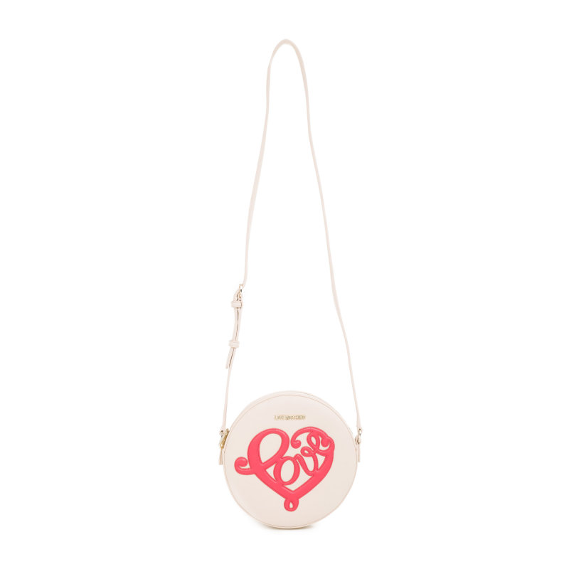 Love Heart messenger bag Love Moschino cream