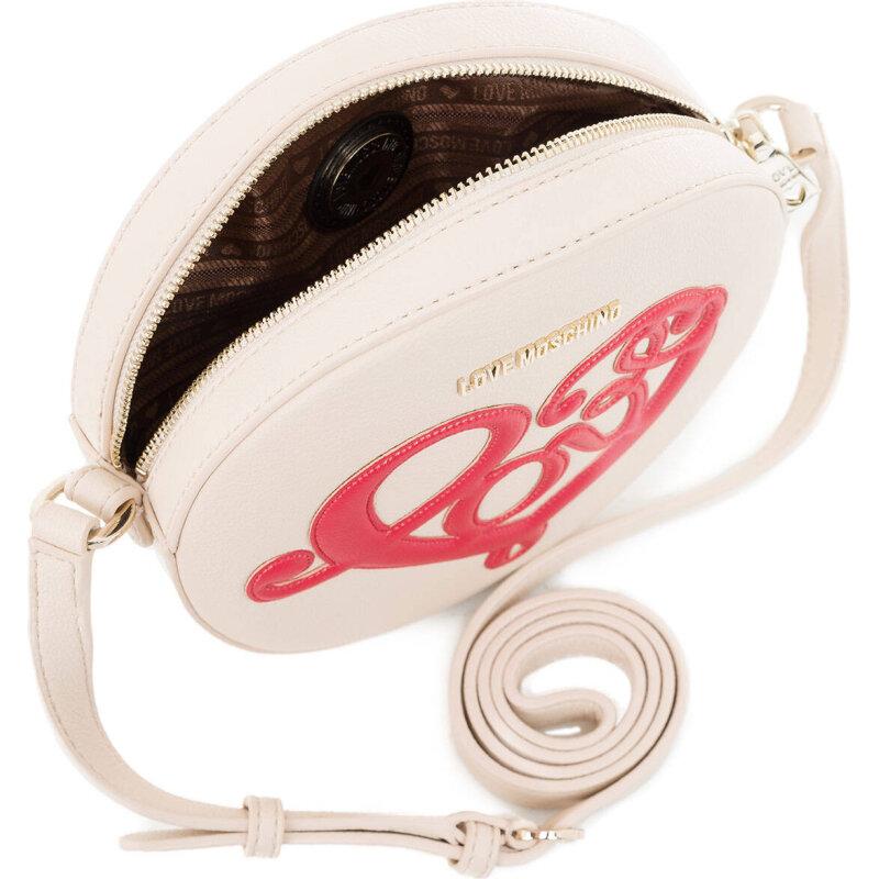 Love Heart messenger bag Love Moschino cream