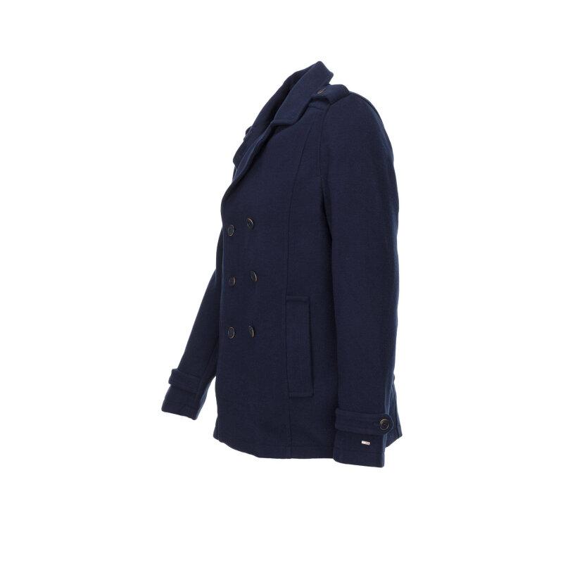 Płaszcz THDM Basic Pea Coat Hilfiger Denim granatowy