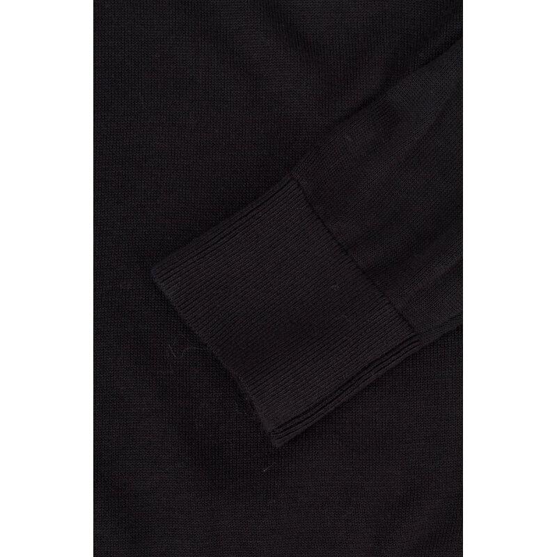 Sweter Plaited CTN Silk Tommy Hilfiger czarny