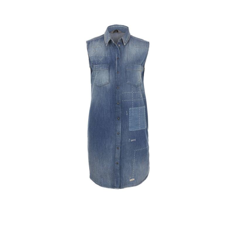 Sukienka DE-LUTOR CAMICIA Diesel niebieski