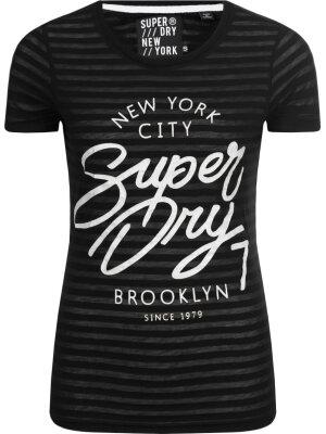 Superdry T-shirt BURNOUL STRIPE ENTRY | Slim Fit