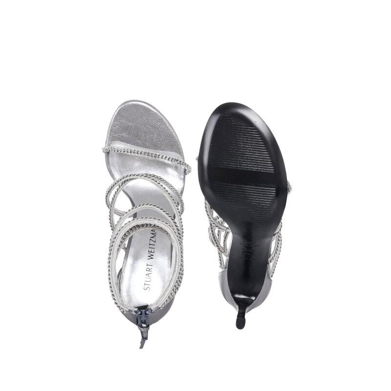 Xchain sandals Stuart Weitzman silver