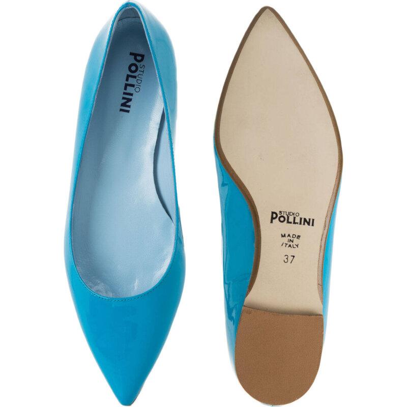 Baleriny Pollini niebieski