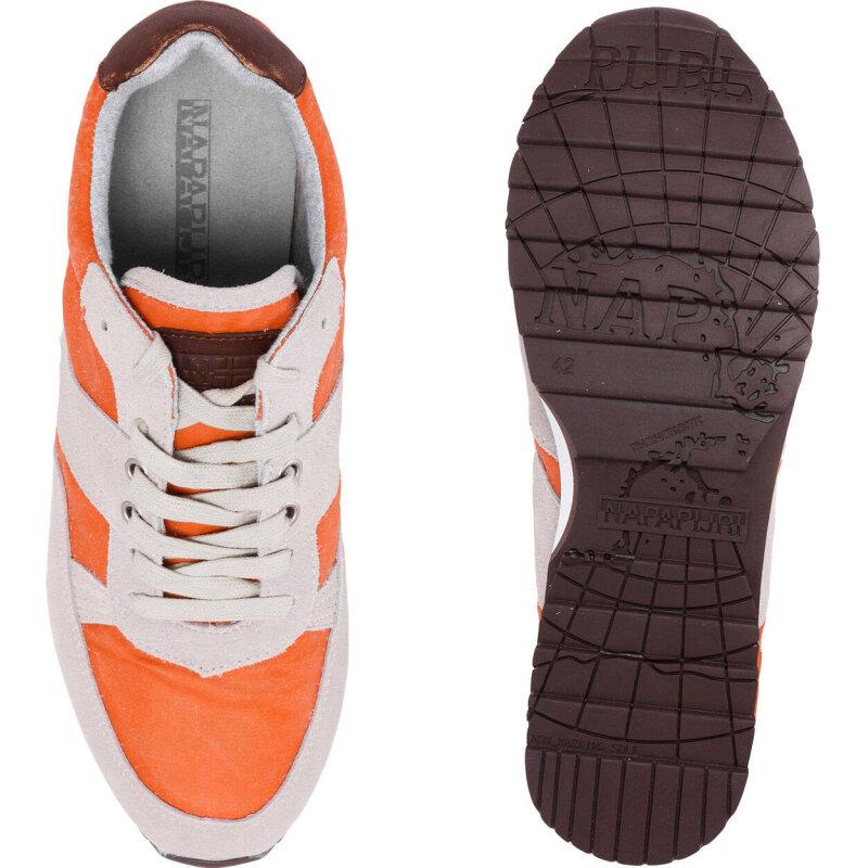 Sneakersy Trail Napapijri pomarańczowy