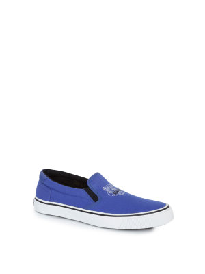 Kenzo Slip On Velvet E17 Canvas Tiger