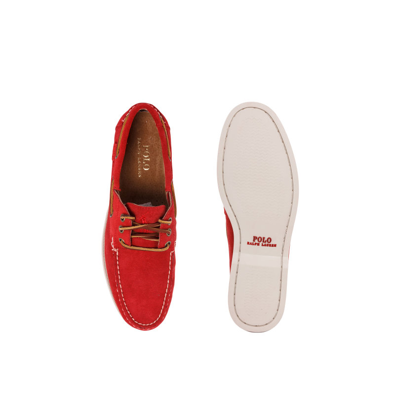 Mokasyny Biennie II Polo Ralph Lauren czerwony