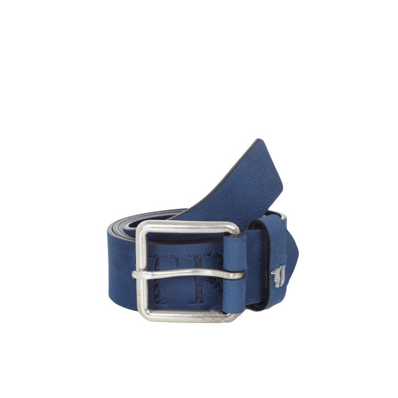 Pasek Trussardi Jeans niebieski