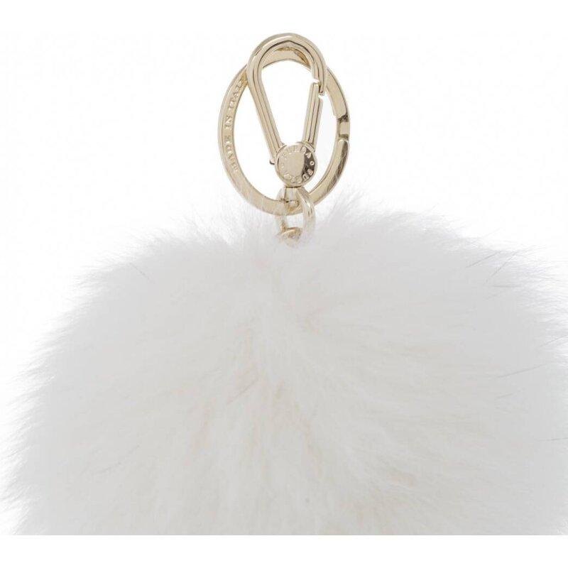 Bubble keyring Furla white