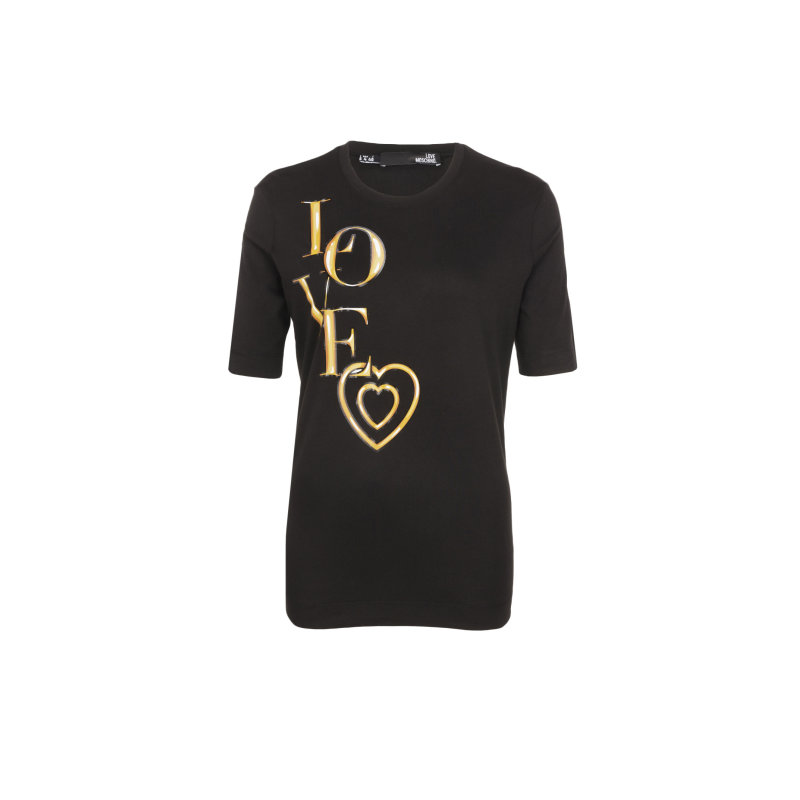 T-shirt Love Moschino czarny