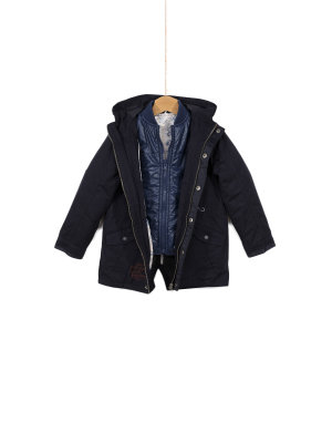 Pepe Jeans London Płaszcz + kurtka dwustronna Curtis jr