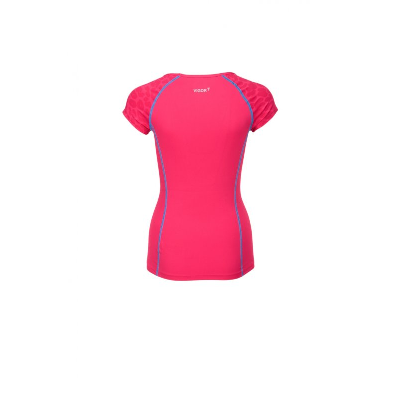 T-shirt EA7 różowy