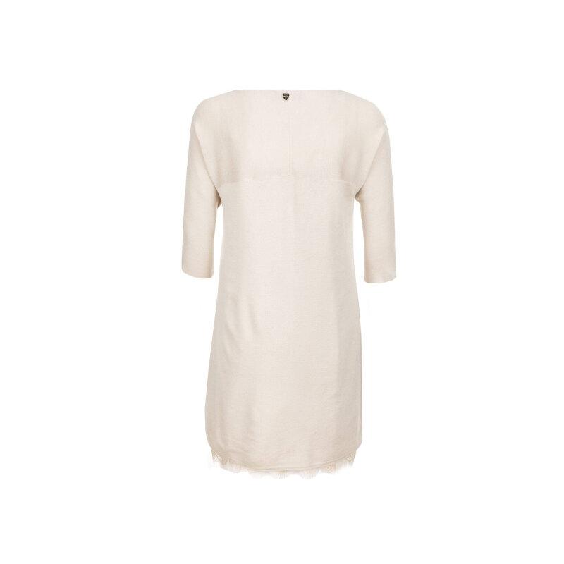 Sukienka + halka Twinset kremowy