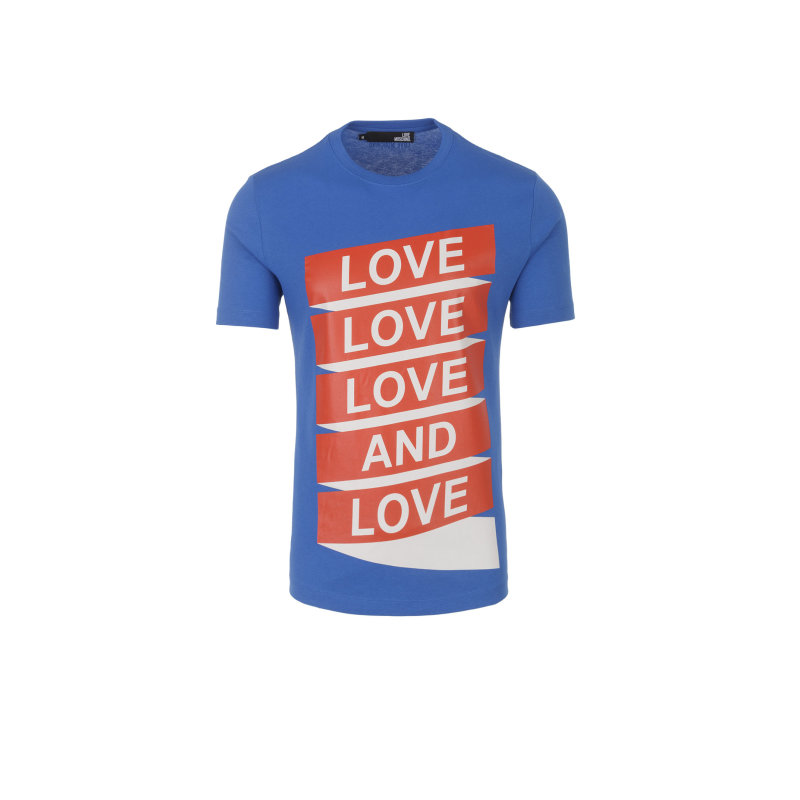T-shirt Love Moschino niebieski