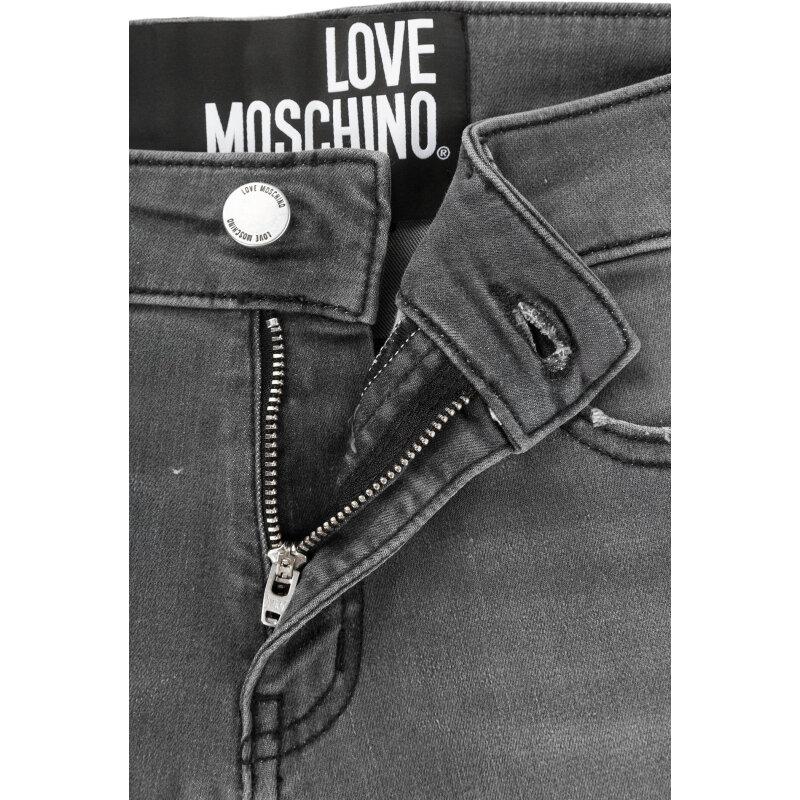 Jeansy Love Moschino szary