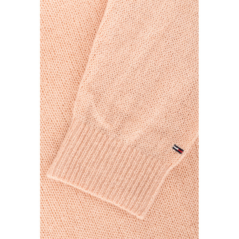 Sweter THDW VNK Hilfiger Denim pudrowy róż