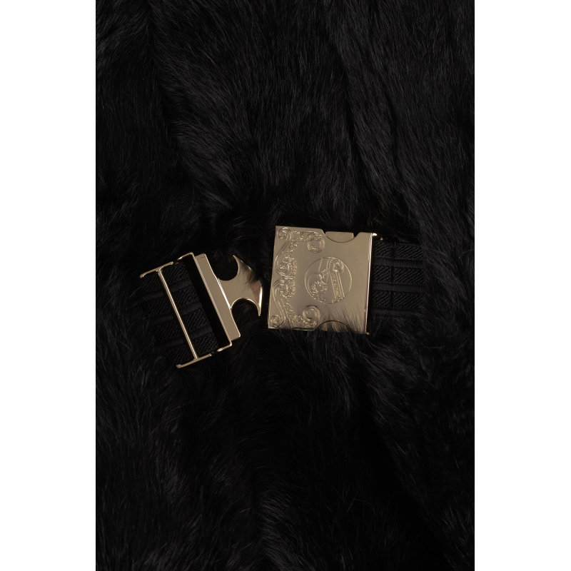 Futro Versace Jeans czarny