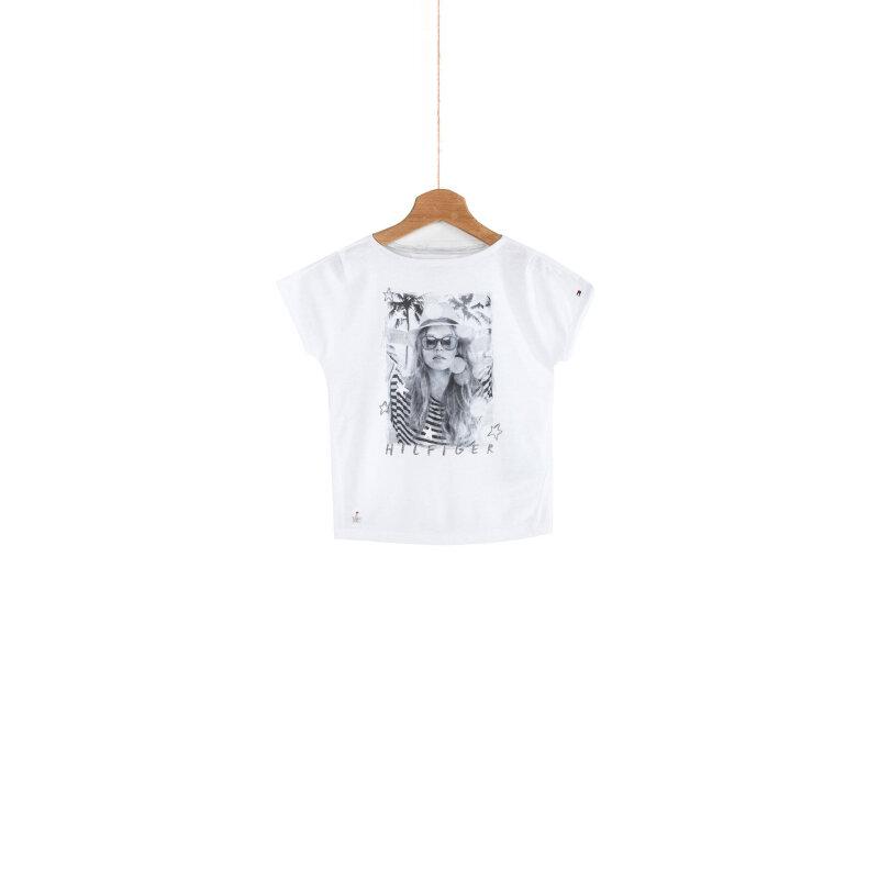 T-shirt Tiffany Tommy Hilfiger biały