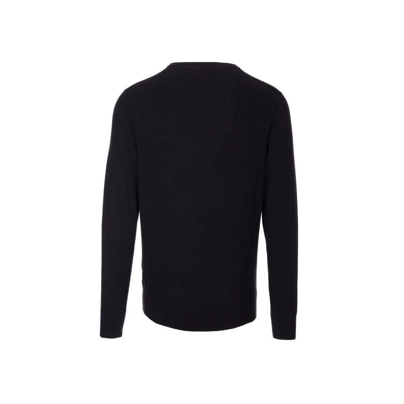Sweter Plaited CTN Silk V-nk Tommy Hilfiger czarny