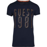 T-shirt Guess granatowy