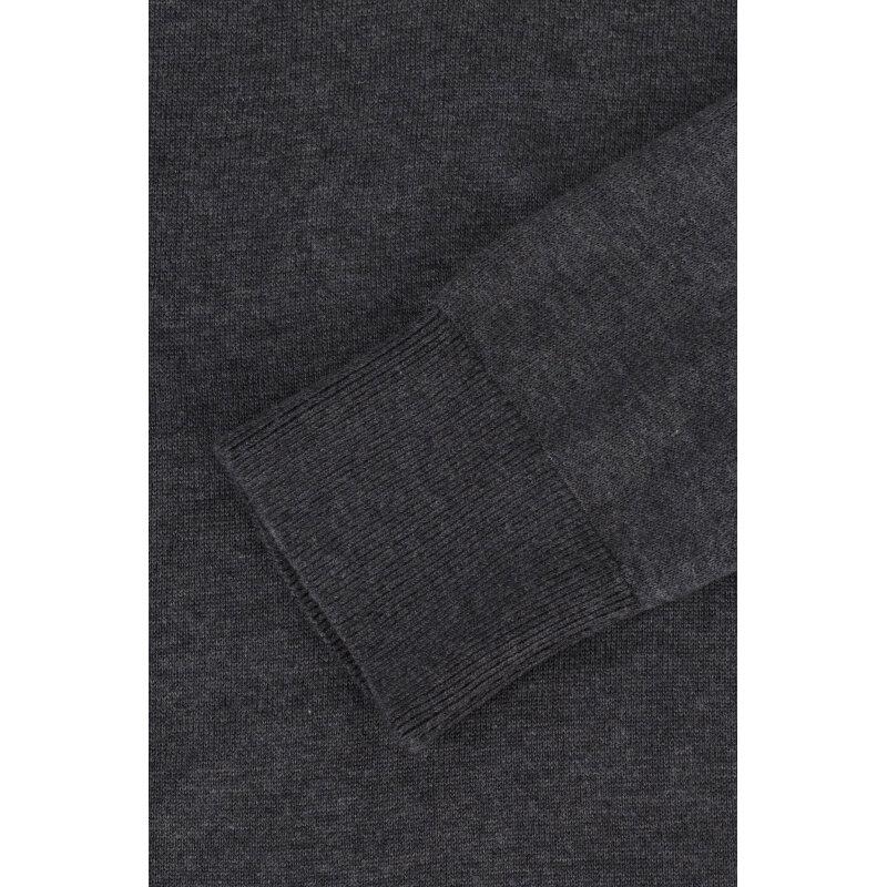 Sweter Plaited CTN Silk V-nk Tommy Hilfiger szary
