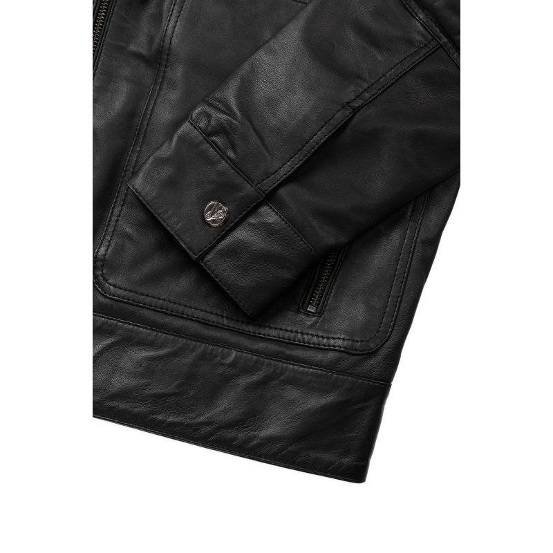 Leather Jacket Versace Jeans black
