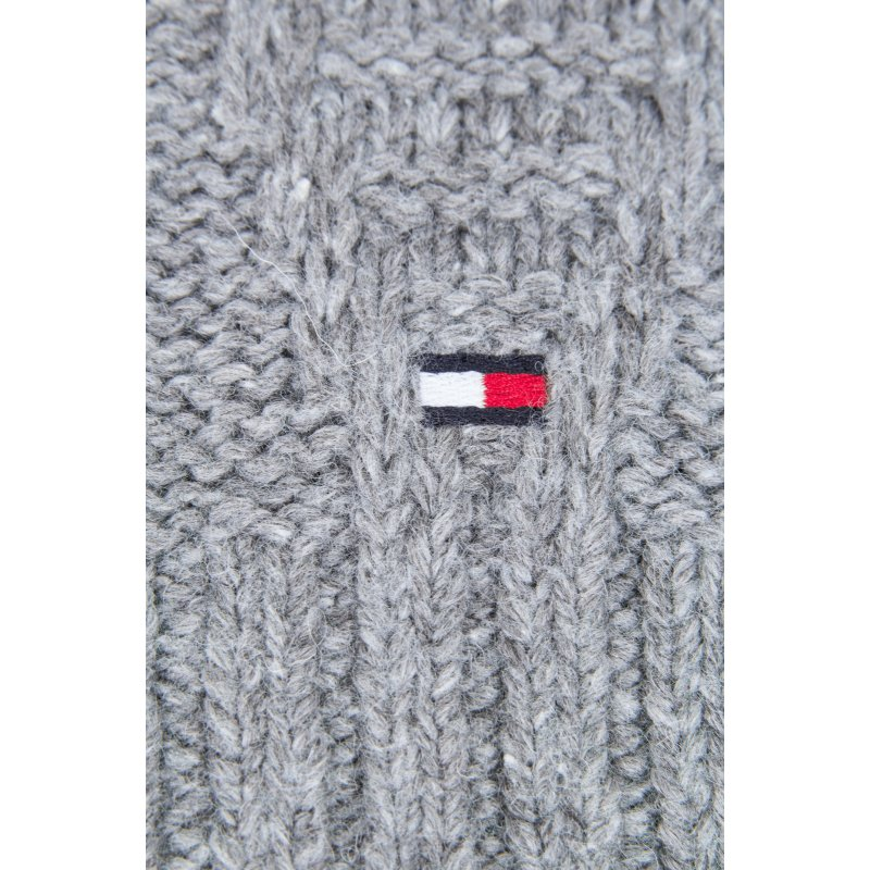 New Cable Scarf Tommy Hilfiger gray