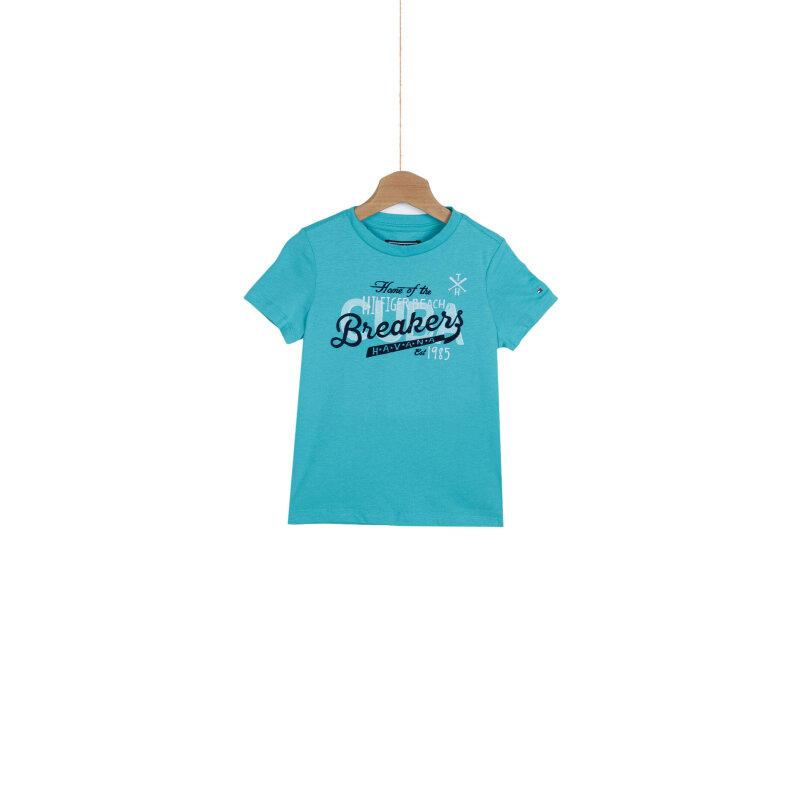T-shirt Home Tommy Hilfiger turkusowy