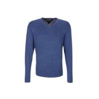 Sweter Plaited CTN Silk V-nk Tommy Hilfiger niebieski