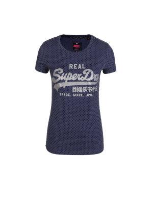 Superdry T-shirt Vntge Logo Flock Dot