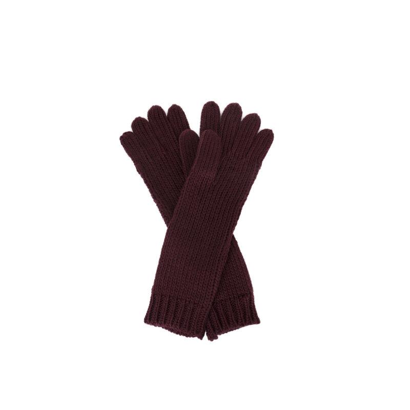 Rękawiczki Twinset bordowy
