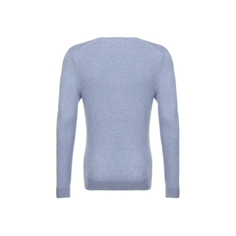 Sweter Plaited CTN Silk V-nk Tommy Hilfiger błękitny