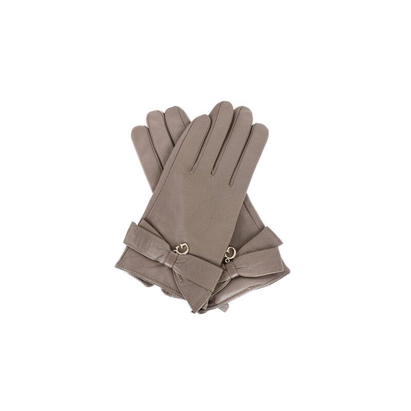 Rękawiczki Guess kasztanowy