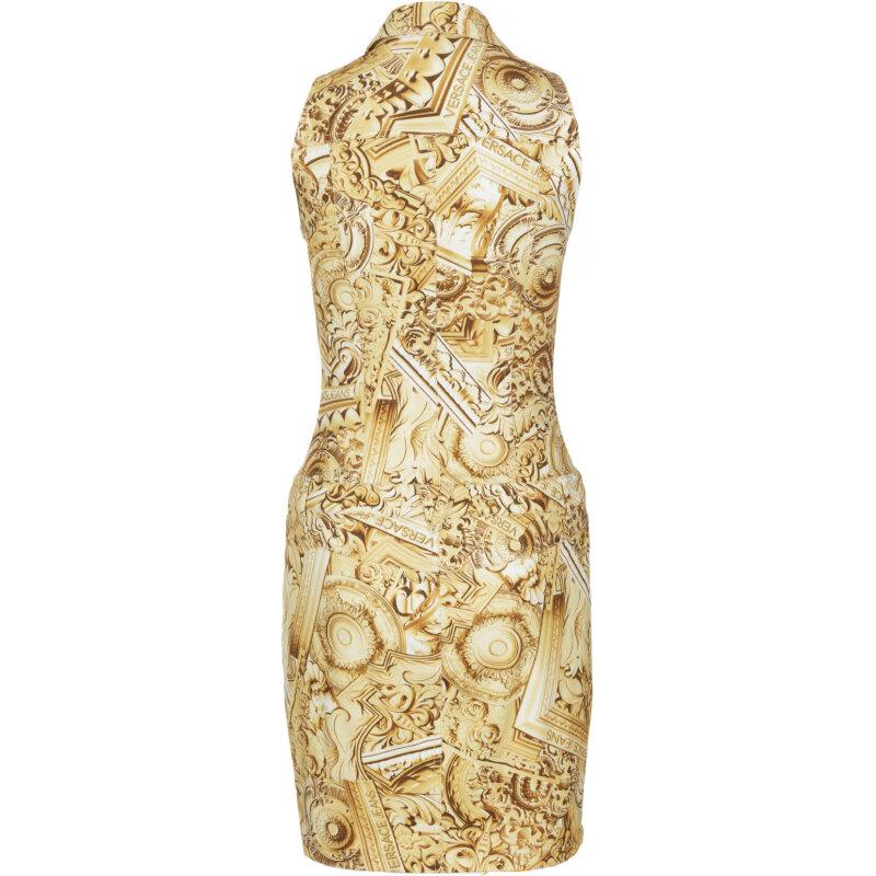 Sukienka Versace Jeans złoty