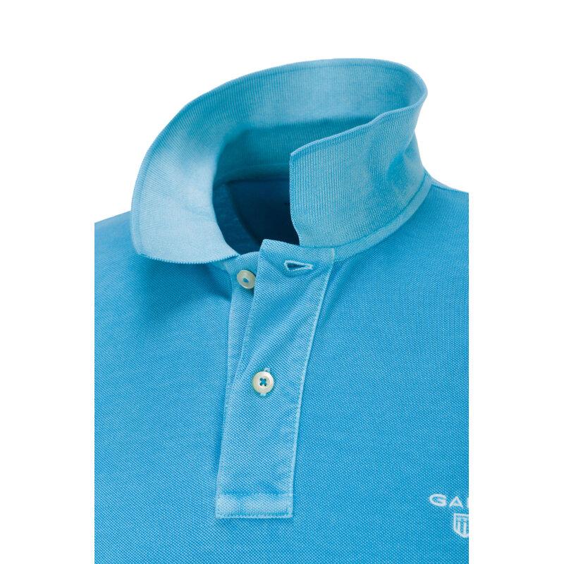 Polo Sundbleached Pique Rugger Gant niebieski