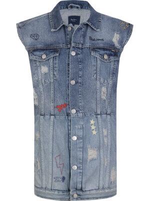 Pepe Jeans London Kamizelka Jenny Scribble   Regular fit   Vintage