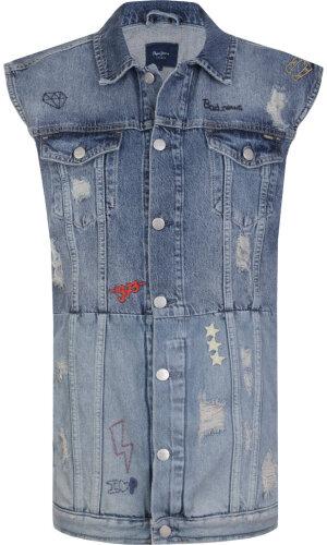 Pepe Jeans London Kamizelka Jenny Scribble | Regular fit | Vintage