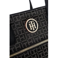 Shopperka Jacquard Tommy Hilfiger czarny