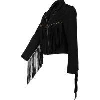 Skórzana kurtka Twinset czarny
