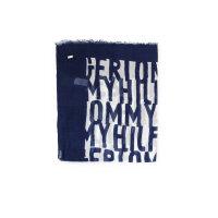 Szal Logo Tommy Hilfiger granatowy