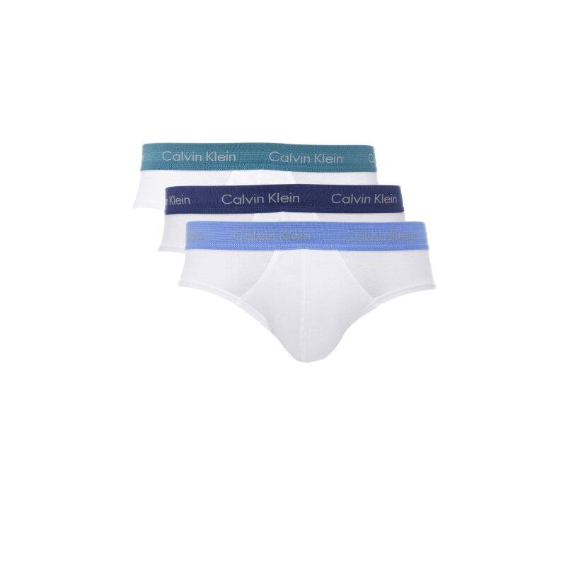 Slipy 3 Pack Calvin Klein Underwear biały