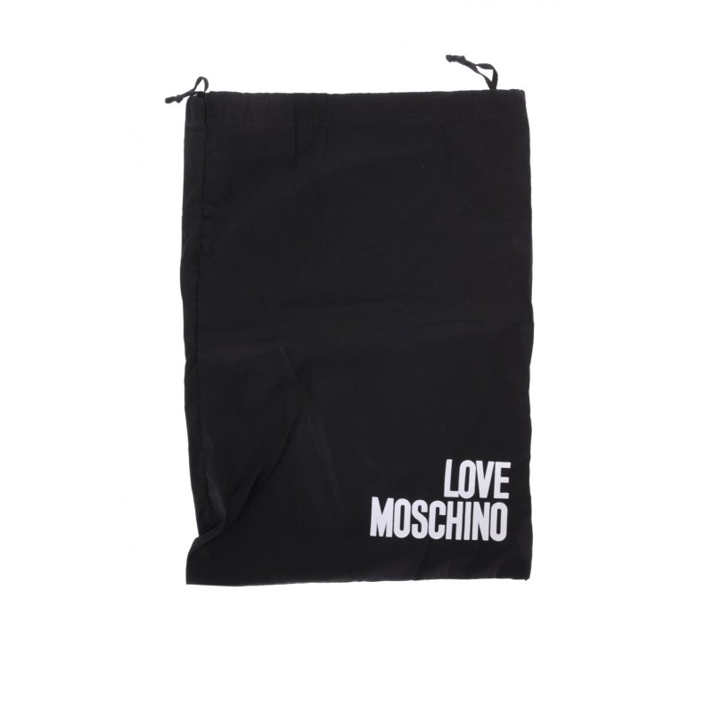 Buty Biker Chain&Charms Love Moschino czarny