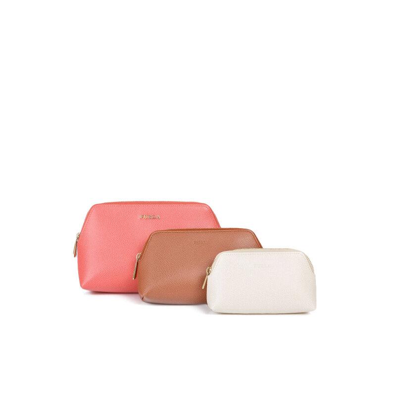 Kosmetyczki Isabelle Furla koralowy