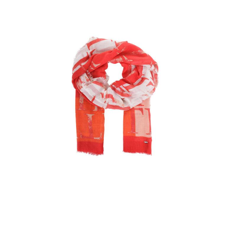 Szal Cotton Modal Tommy Hilfiger czerwony