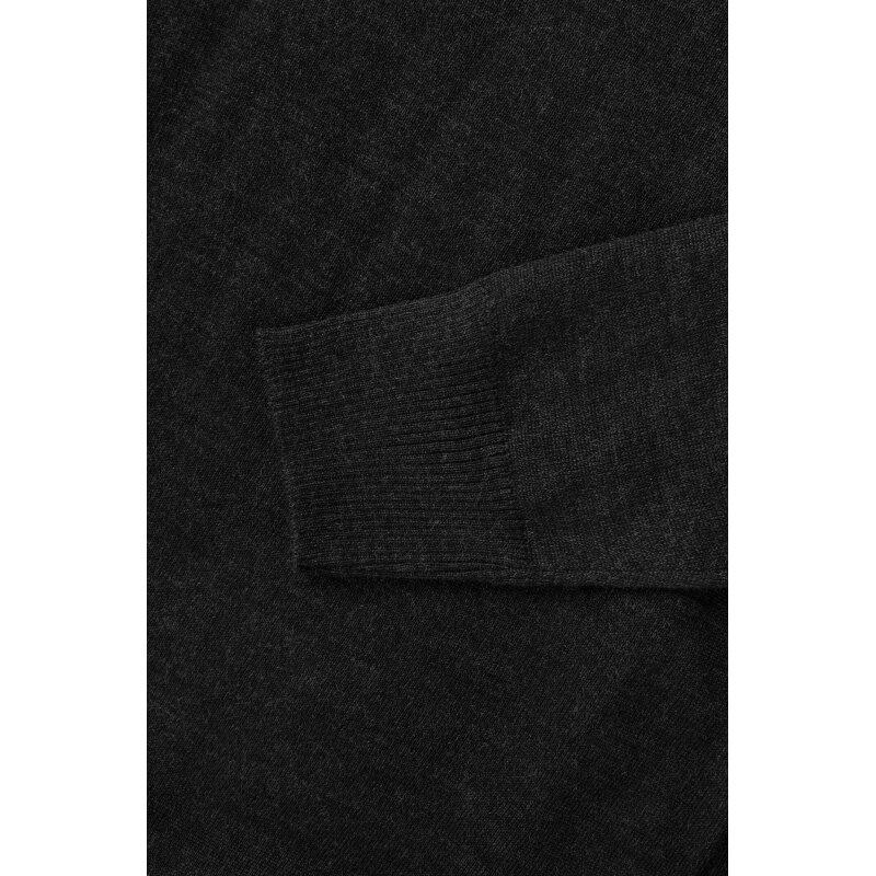 Sweter Trussardi Jeans grafitowy